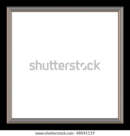 Silver Black Square Photo Frame White Stock Illustration 48041119 ...