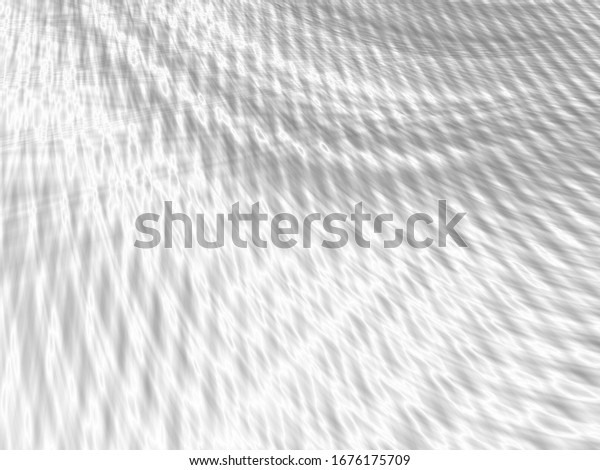 Silver bright wave art abstract white texture background