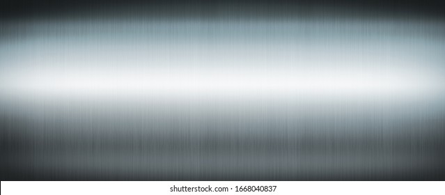 Silver brushed metal. Banner background texture wallpaper