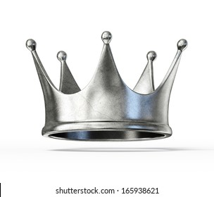 silver crown isolated on a white background