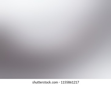 Silver empty background. Grey white blurred illustration. Light steel abstract pattern. Matte neutral texture. Simple silhouette defocused template.