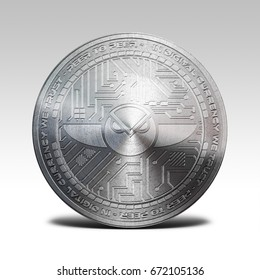 silver gnosis coin isolated on white background 3d rendering