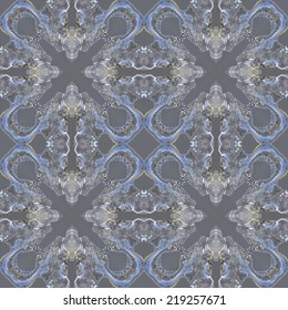 Silver gray ice patterns repeating pattern seamless background