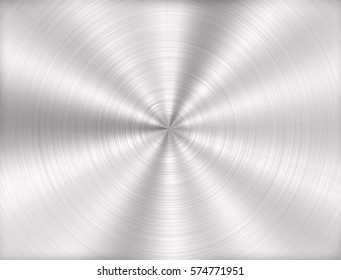 silver metal background with realistic circular brushed texture