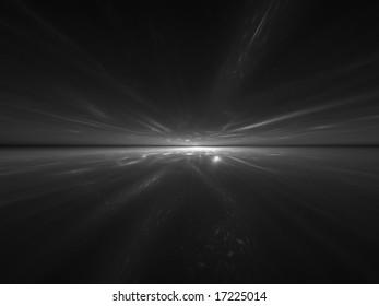 Silver SuperSonic - 3D fractal illustration