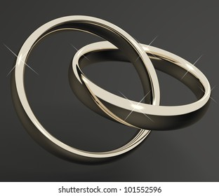 Silver Or White Gold Rings Represents Love Valentines And Romance