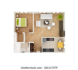 Simple House Design Top View