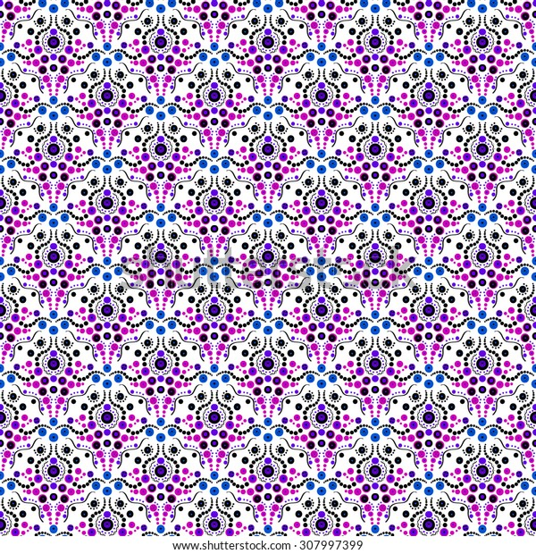 Simple abstract light  pattern. Black and white with violet geometric background. Light black ornament
