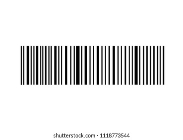 Simple bar code isolated over white background. Modern technology concept, Raster illustration