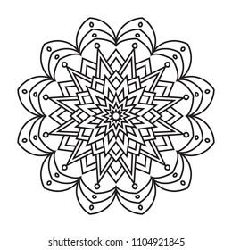Simple basic easy mandalas coloring for beginner