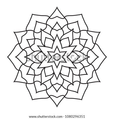 mandala coloring pages easy Royalty Free Stock Illustration of Simple Basic Easy Mandalas  mandala coloring pages easy
