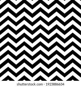 Simple Black and White Chevron Zig Zag Pattern
