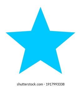 A Simple Blue Colour Star Logo Design