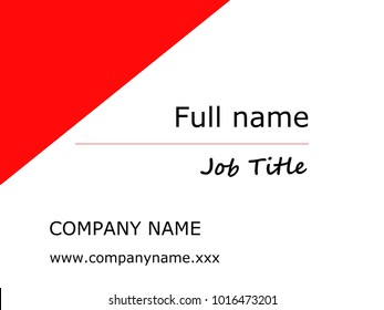 Simple business card template - Red and white. Promote your business