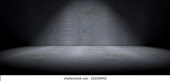 Simple cement floor background and spot light
