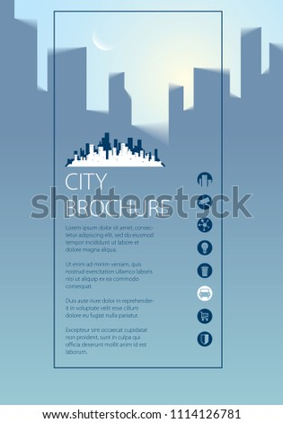 simple city traveling tourist guide book stock illustration