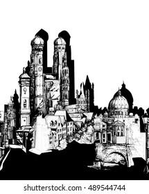 Simple cityscape block pattern