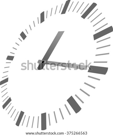 Royalty Free Stock Illustration Of Simple Clock Hands Template Stock
