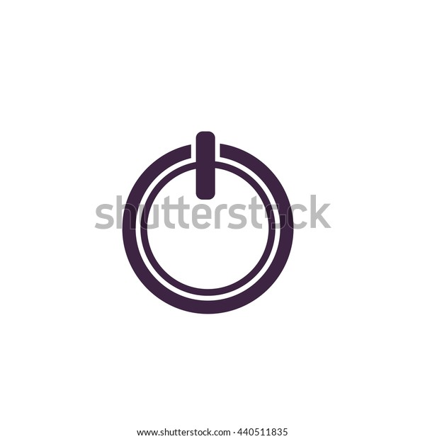 Simple coffee cup - top view. Simple blue icon on white background