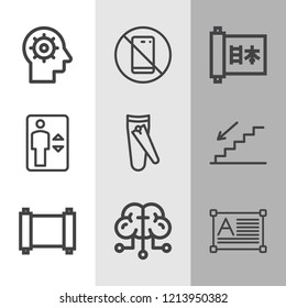 Simple collection of modern related outline icons  about  signs for infographic, logo, app development and website design.  premium symbols isolated on a stylish background.