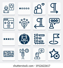 Simple collection of reads related lineal icons  about  signs for infographic, logo, app development and website design.  premium symbols isolated on a stylish background.