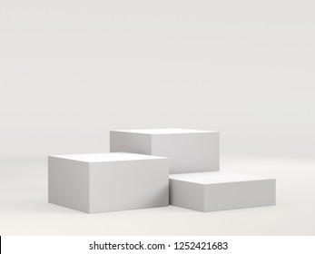Simple Cube Stand. 3D rendering