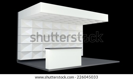 Exhibition Booth Blank : D rendering blank creative exhibition stand design booth