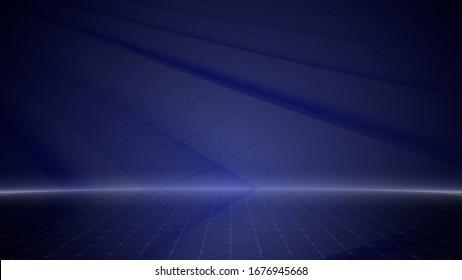 Diseño simple Geometric Stage Teatro empresarial 3D ilustración fondo.