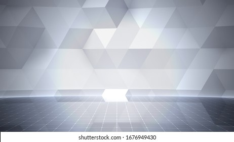 Simple Design Geometric Stage Theater business 3D illustration background.