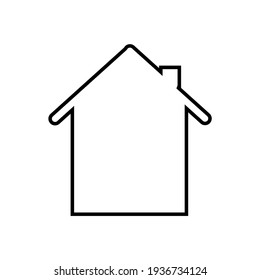 simple design of home icon. line style