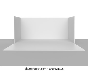 Simple Emply Box Booth. 3D rendering