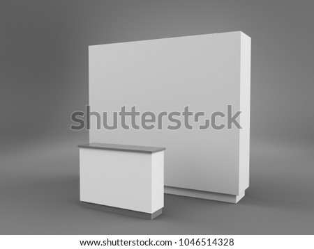 Simple Exhibition Stand : Royalty free stock illustration of simple exhibition stand design