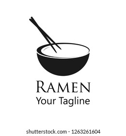 Simple flat Ramen logo for you