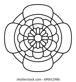 Simple floral mandala pattern.
