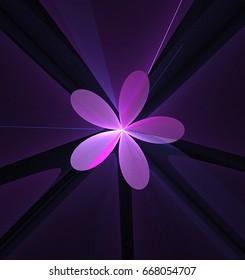 Simple  fractal flower