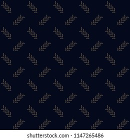 Simple geometric motif. Flat background. Vintage seamless ornament. Printing block for interior textile, scrap paper, fabric cloth, wallpaper, cards. Indigo all over design. Set Peacock Pattern.