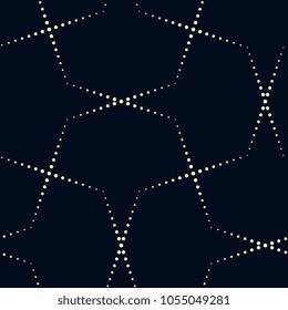 Simple geometric ornament. Dot line all over motif on a indigo background. Traditional oriental lattice. Decorative fabric textile print block. Vintage design. Raster image. Similar vector 795520534.