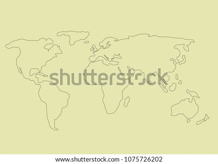 Royalty Free Stock Illustration of Simple Hand Drawn World Map Stock ...
