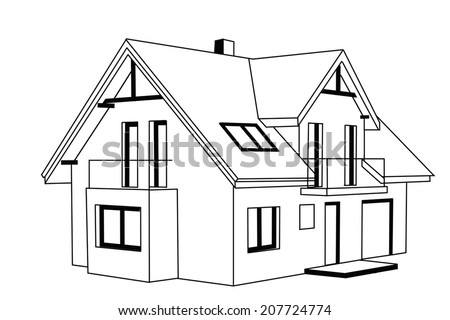 Royalty Free Stock Illustration Of Simple House Design Stock