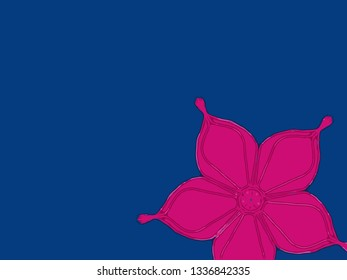 Simple Island abstract floral drawing