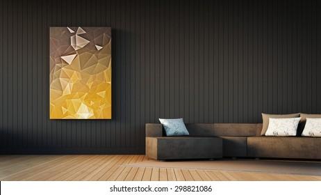 Simple Living room / 3D Render Image