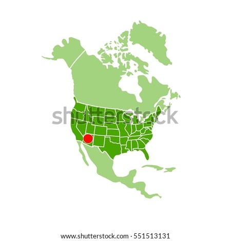 Royalty Free Stock Illustration of Simple Map America Showing ...