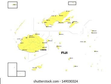 Simple map of Fiji