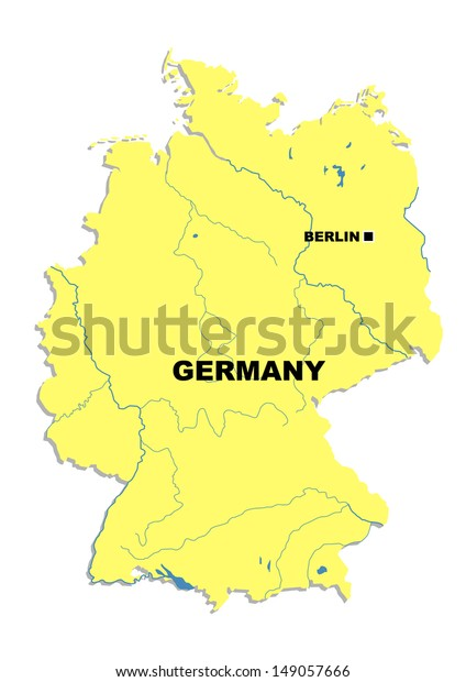 Simple Map Of Germany.Simple Map Germany Stock Illustration 149057666