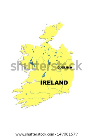 Simple Map Of Ireland.Simple Map Ireland Stock Illustration 149081579 Shutterstock