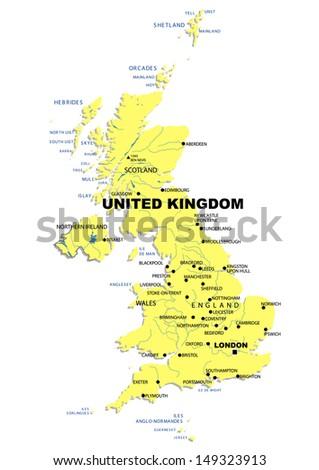 Simple Map Of United Kingdom