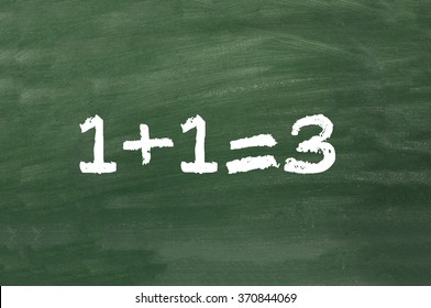 simple math on chalkboard