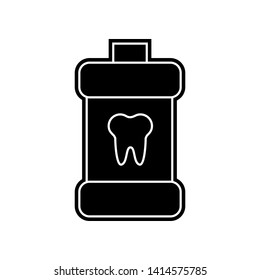 Simple Mouth rinse icon. Element of Dantist for mobile concept and web apps icon. Glyph, flat icon for website design and development, app development