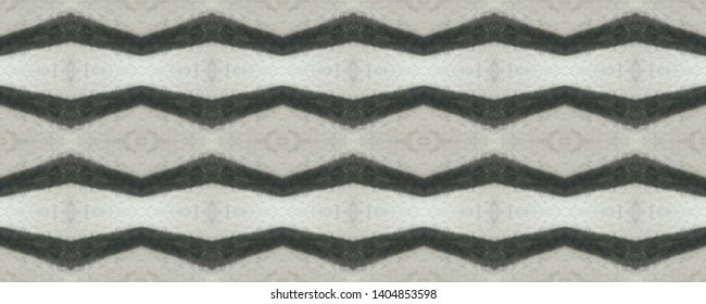 Simple ogee pattern. Rhombus design. Ikat texture. Tribal ornament. Wavy fabric. Vintage wallpapers. Shibori style. Tie dye. Watercolor print. Aztec ogee pattern. Black and white seamless motif