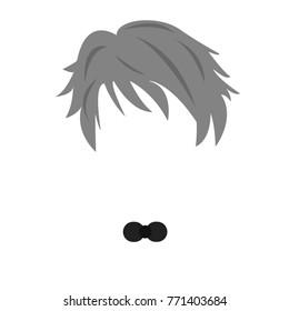 Simple Old Basic Illustrated Faceless Man Stock Illustration